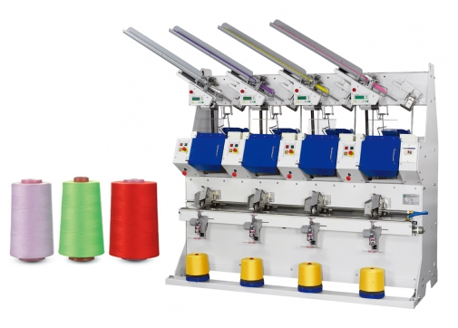 Automatic Sewing Thread Cross Cone Winder (4 Spindles)   (for cone - s.p. yarn)