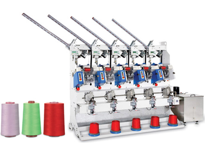 Automatic Sewing Thread Cross Cone Winder(5 Spindles) (for cone - s.p. yarn)