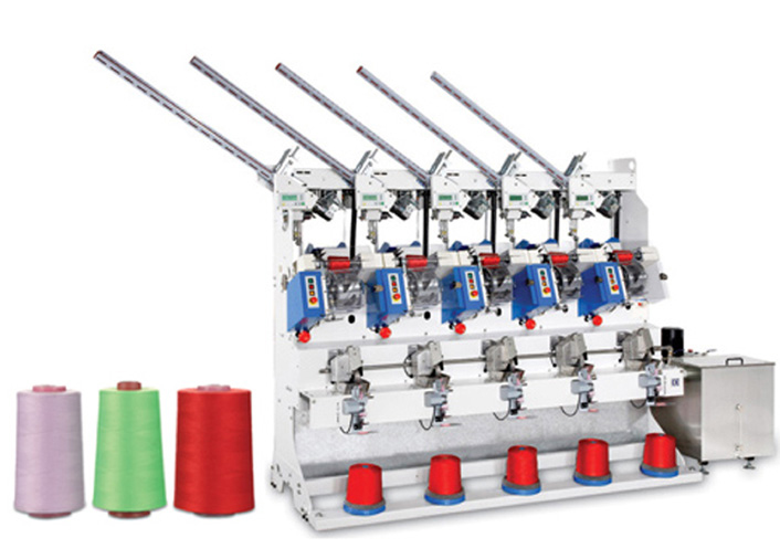 Automatic Sewing Thread Cross Cone Winder(5 Spindles)